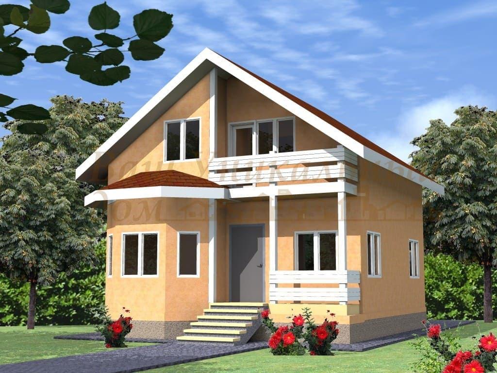 """Каркасный дом, проект """"Дубрава"""""""