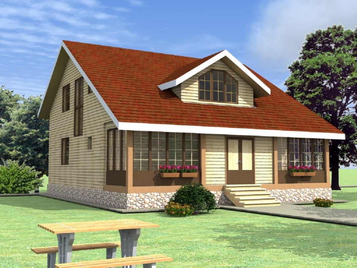 """Каркасный дом, проект """"Тюльпан"""""""