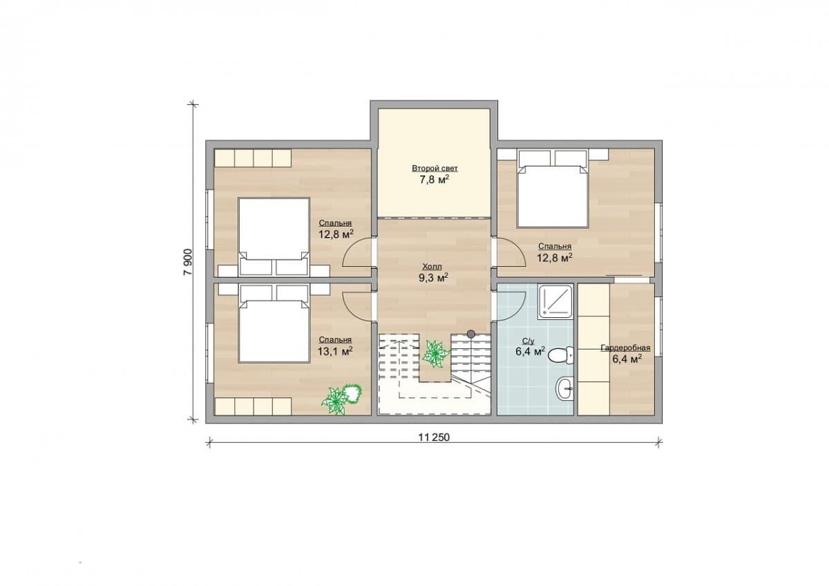 """Каркасный дом, проект """"Афины"""""""