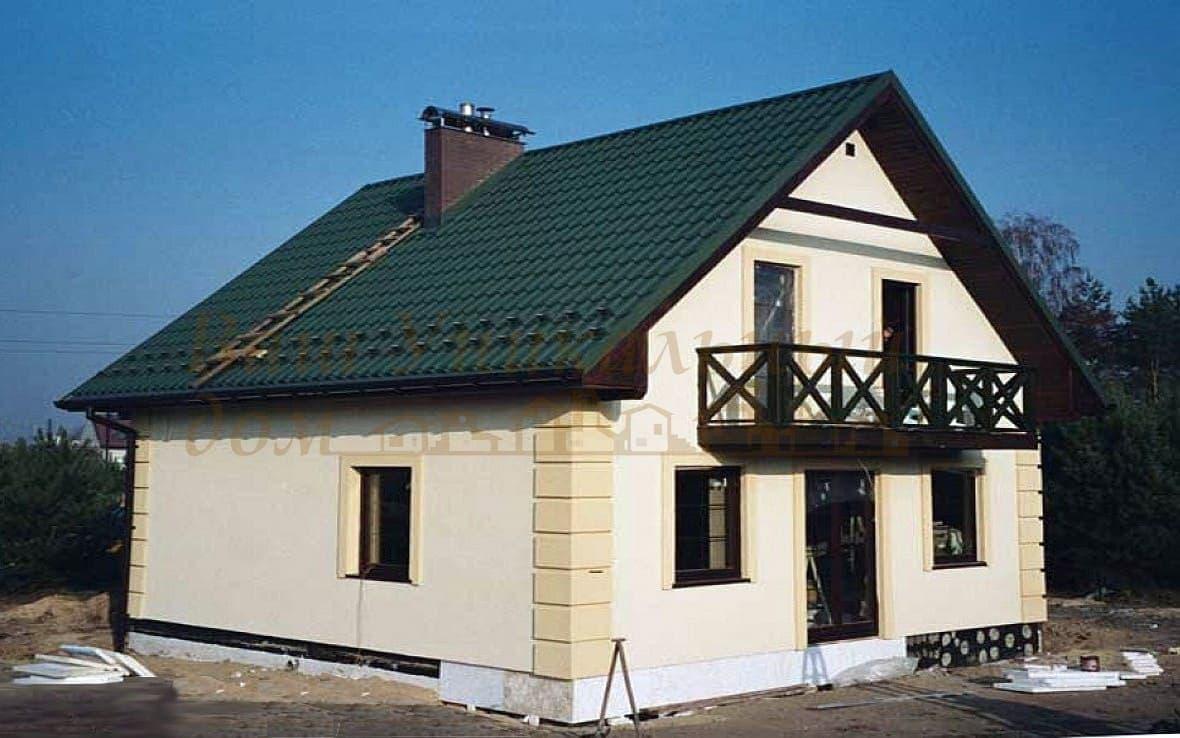 """Дом из блоков, проект """"Компактный"""""""