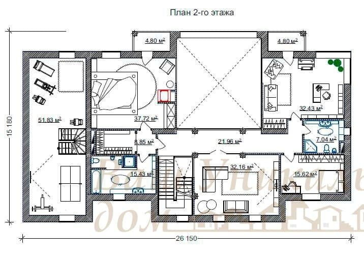 """Дом из блоков, проект """"Дана"""""""