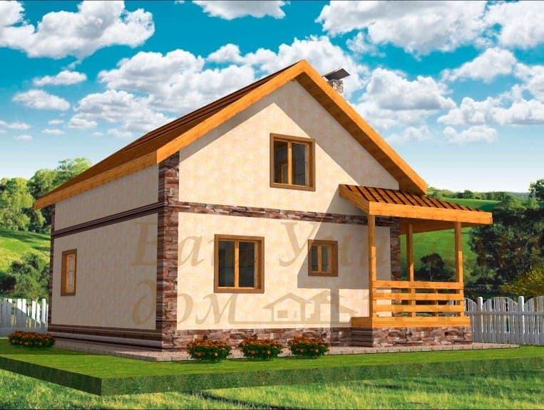 """Дом из блоков, проект """"Долина"""""""