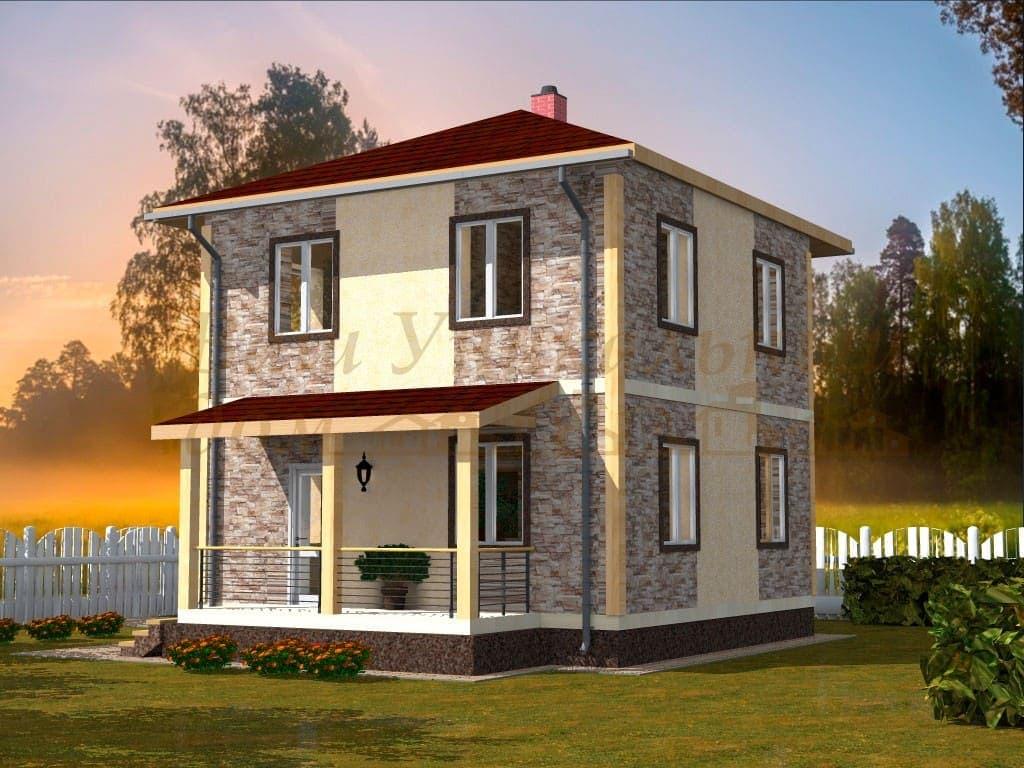 """Каркасный дом, проект """"Ахилес"""""""